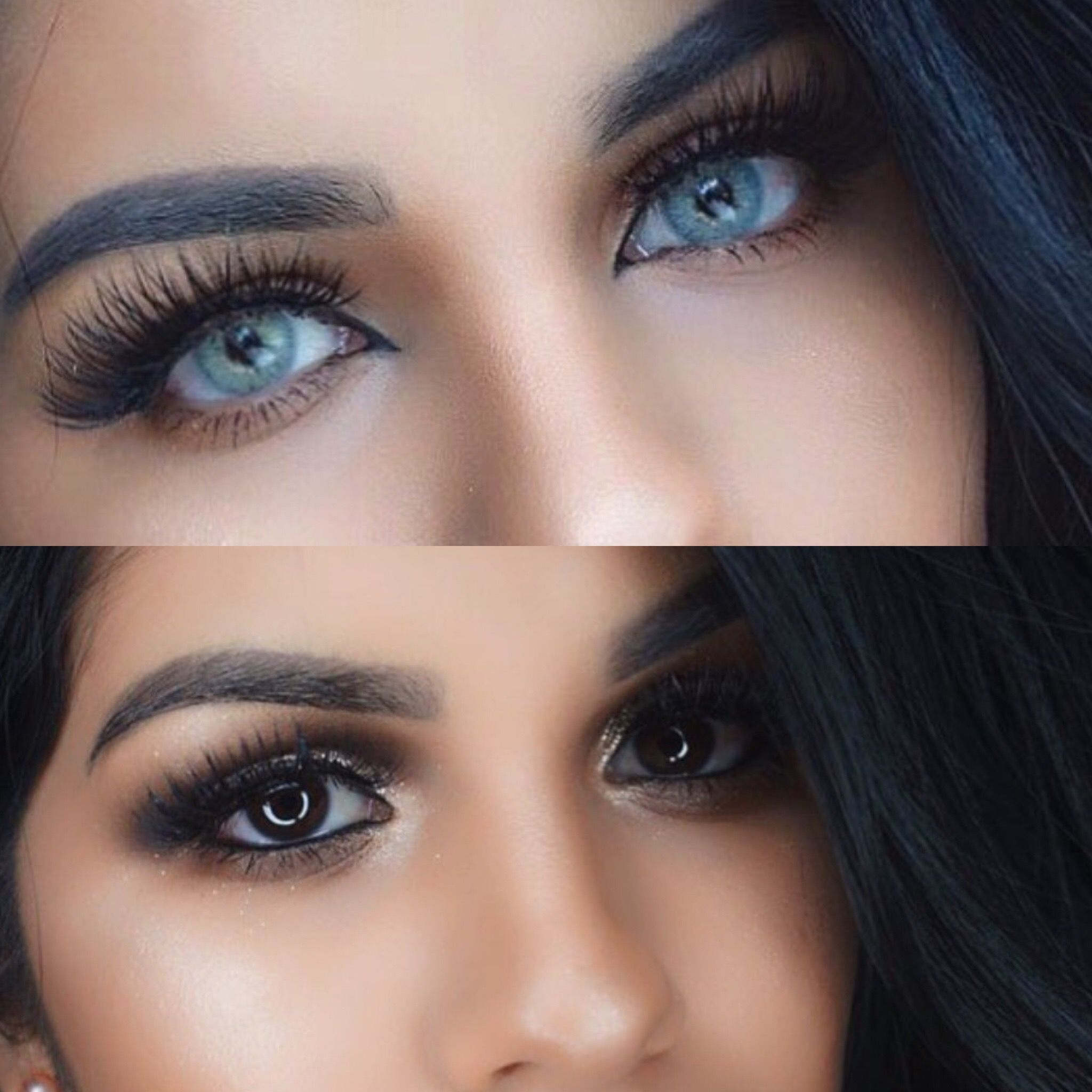 How to select the right type of colored contact es for dark-haired beauties